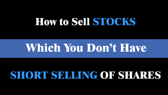 short selling of shares