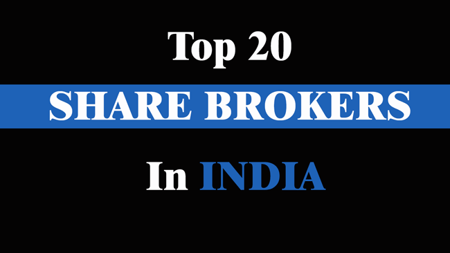 top 20 share brokers in India