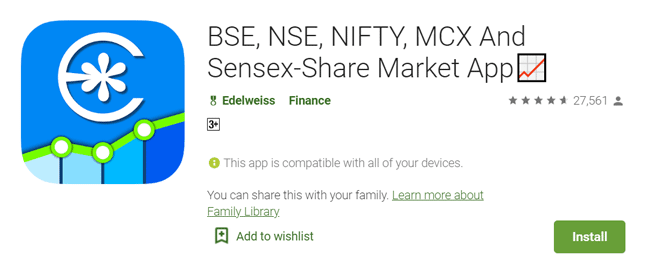 Edelweiss mobile trading app