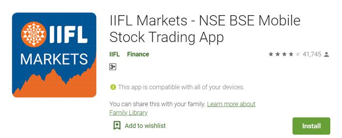 iifl market stock trading app