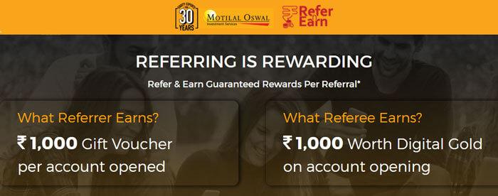 Motilal Oswal Refer and Earn Program