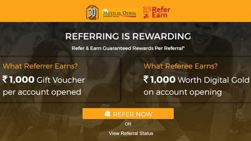motilal oswal refer and earn program