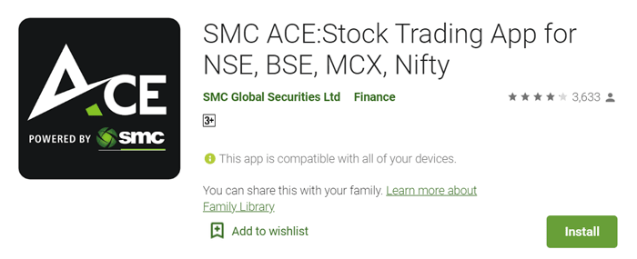 SMC Ace stock trading app for mobile